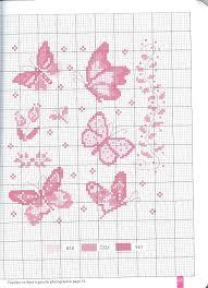 Farfalle monocolore bertafilava for Farfalle a punto croce per bambini