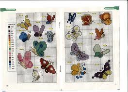 Farfalle diverse dimensioni adatte anche a lenzuola for Farfalle a punto croce per bambini