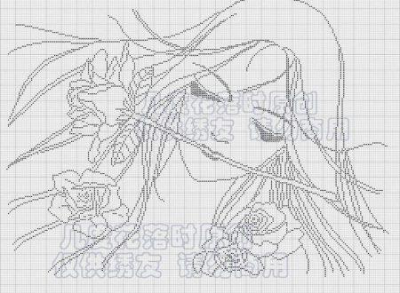 ragazza con fiore monocolore