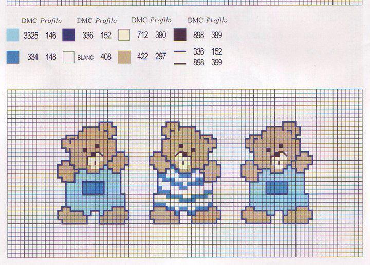 Greche orsetti bertafilava for Orsetti a punto croce schemi