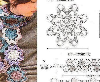 sciarpa fiore