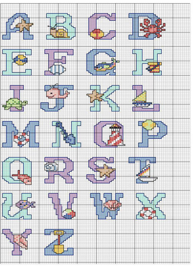 Raccolta alfabeti 2 bertafilava for Alfabeti a punto croce per bambini