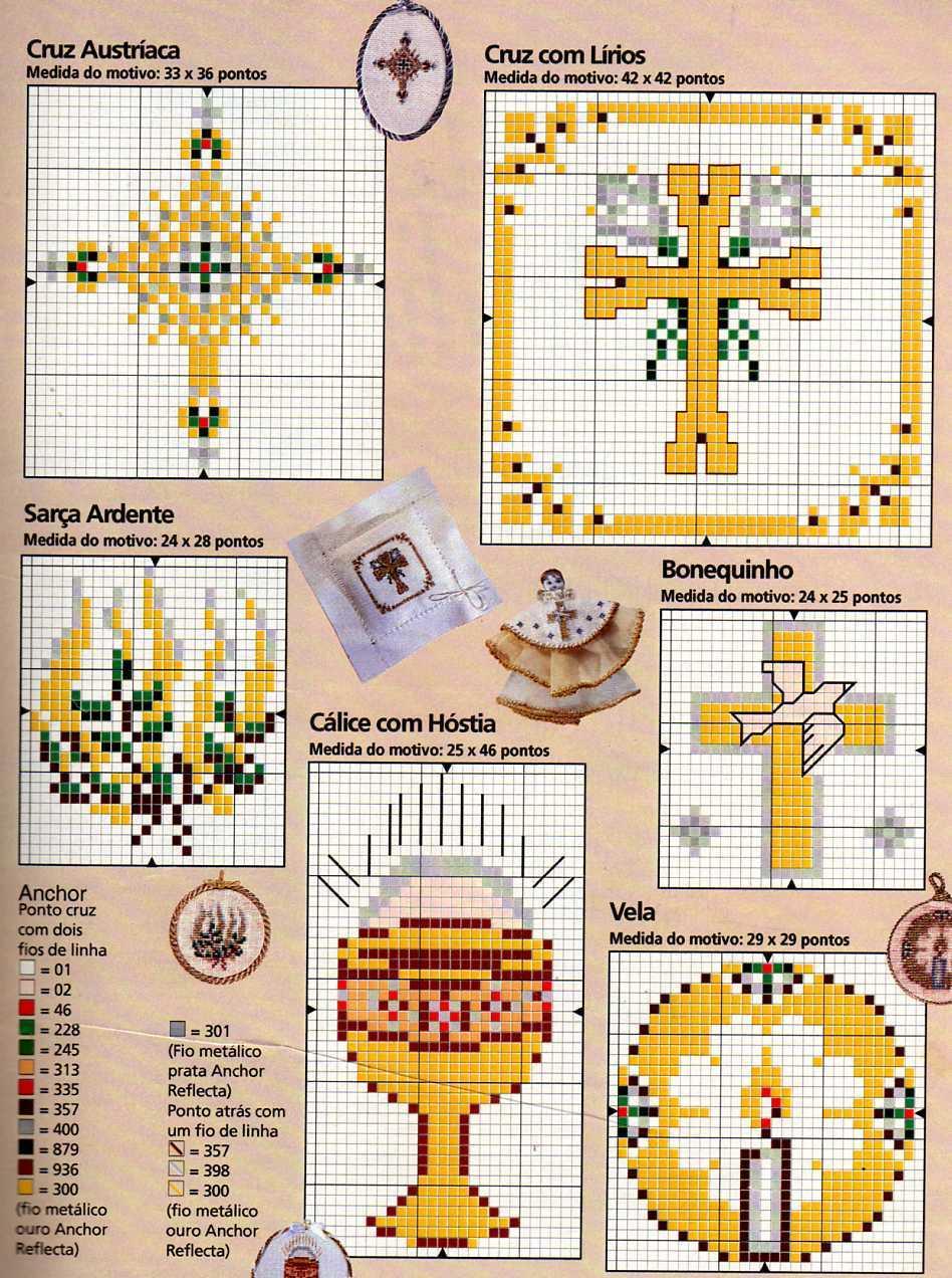 Schemi punto a croce piccoli religiosi bertafilava for Immagini punto croce