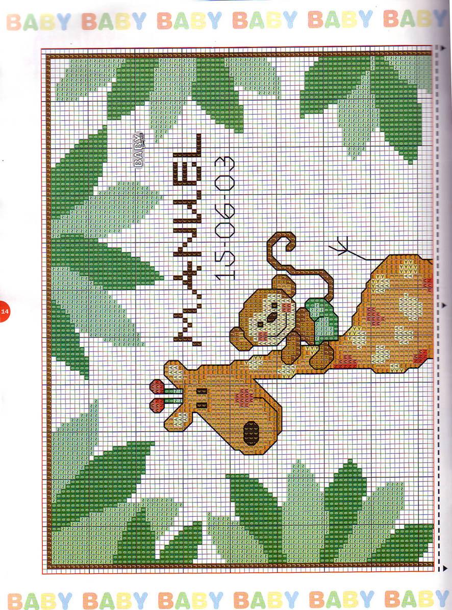 Giraffa bertafilava for Giraffa punto croce