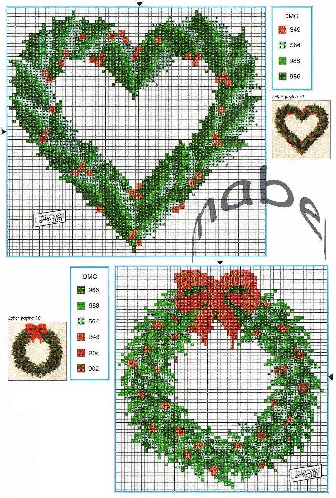 Ghirlande natalizie punto croce bertafilava for Immagini punto a croce