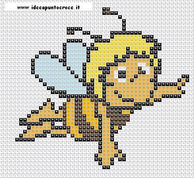schema punto croce ape maia fare di una mosca