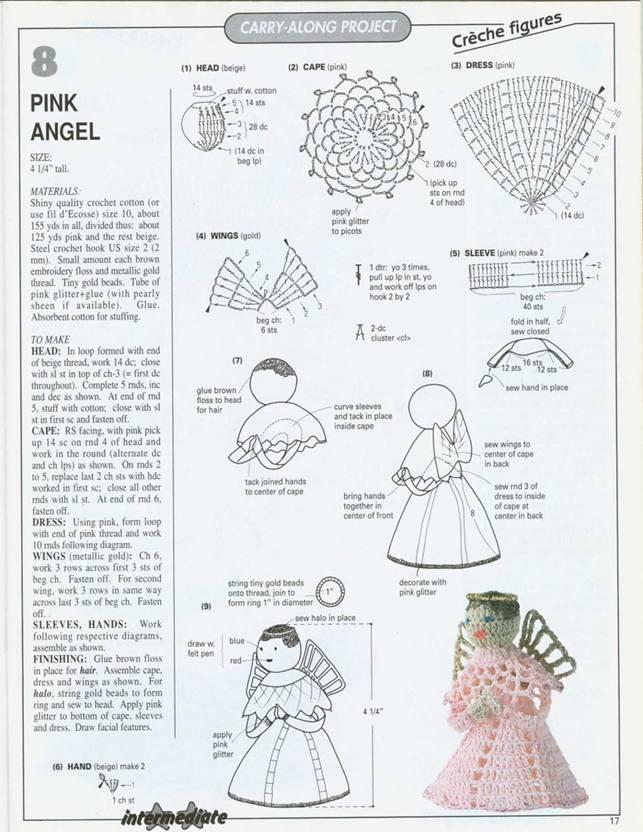Вязание ангела крючком схемы с описанием 43