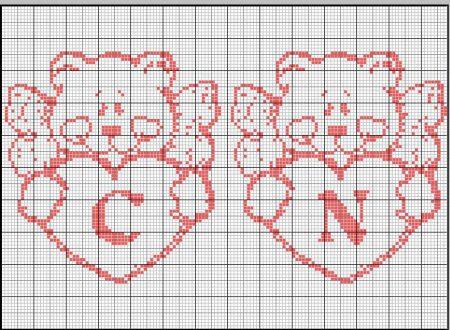 angioletti/orsetti con cuoricini monocolore