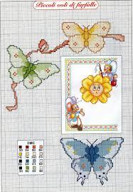 Farfalle punto croce bertafilava for Schemi punto croce fiori e farfalle